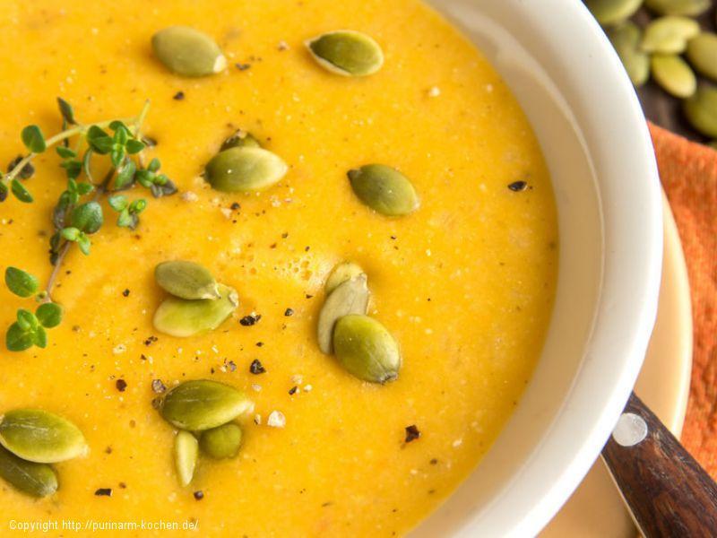 Kürbiscreme-Suppe